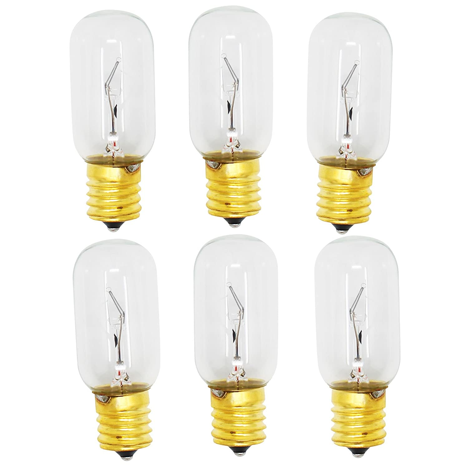 6-Pack Replacement Light Bulb for Kenmore/Sears 72180413500 Microwave - Compatible Kenmore/Sears 6912W1Z004B Light Bulb