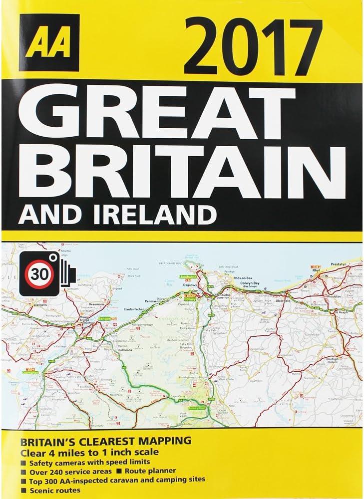 Mapas de carretera de 2017 de Gran Bretaña e Irlanda, de AA: Amazon.es: Hogar