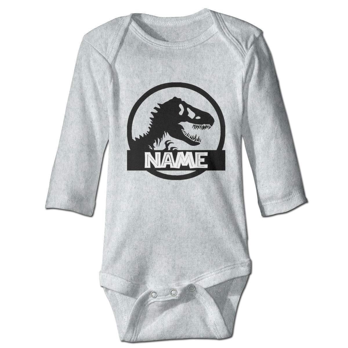 Dfenere Your Name Retro Newborn Baby Long Sleeve Bodysuit Romper Infant Summer Clothing