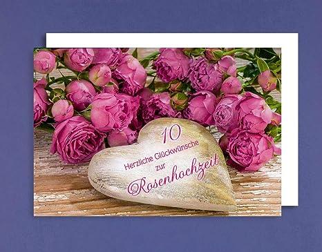 Rosen Hochzeit Karte Grußkarte Hochzeitstag 10 Jahre