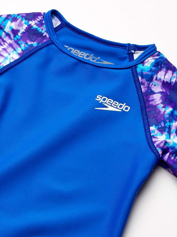 Speedo Girls Infinite Tie Dye Long-Sleeve Rashguard Two-Piece Set