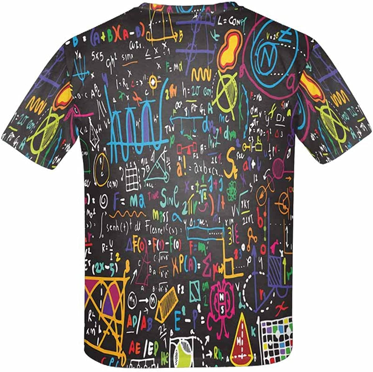 INTERESTPRINT Kids T-Shirts Science Board with Math XS-XL