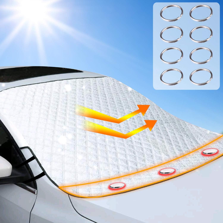 Car un seul c/ôt/é fen/être Pare-soleil avant voiture Pare-soleil en aluminium Foil Isolation Sun Block fen/être Pare-brise Couverture