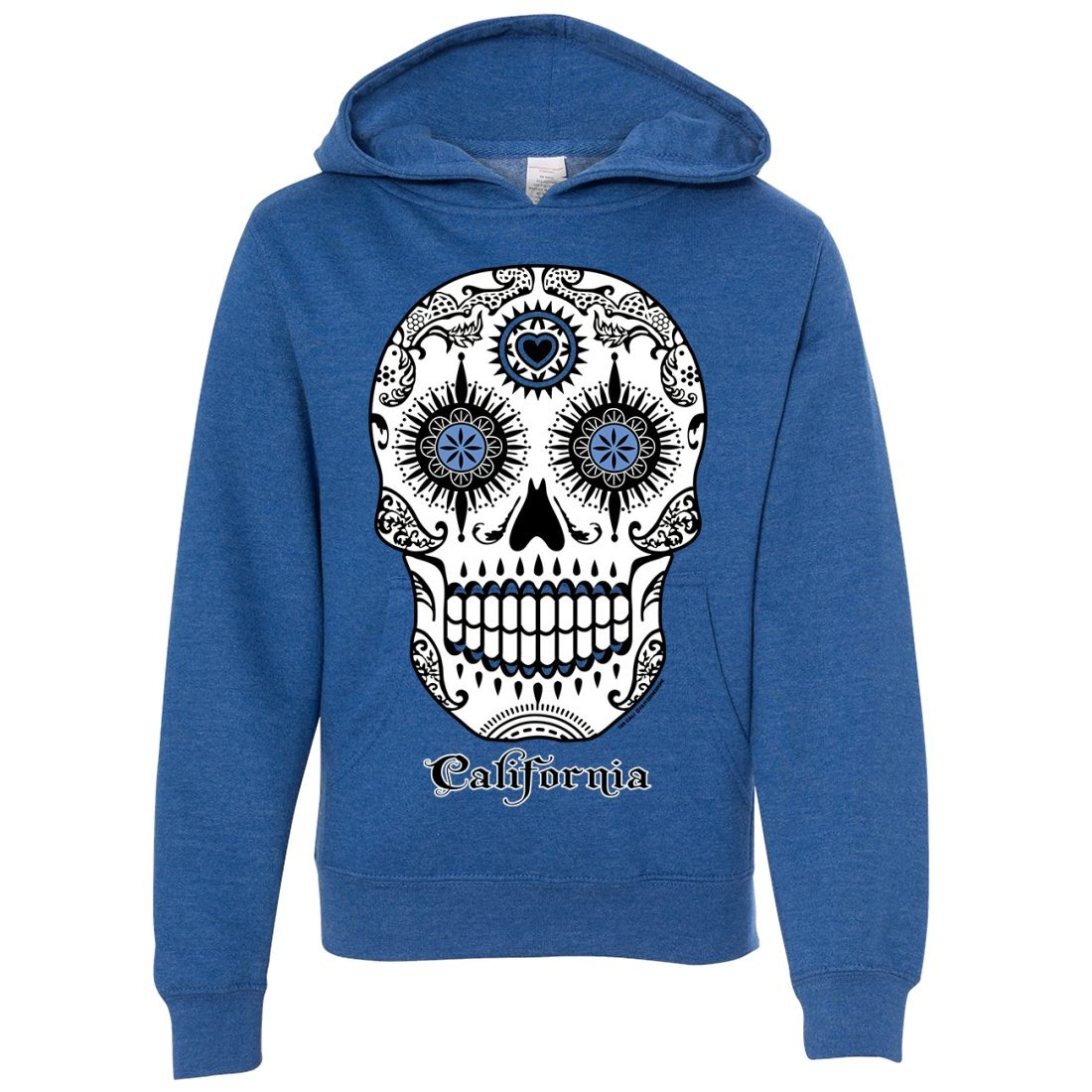 California Republic Sugar Skull Youth Sweatshirt Hoodie