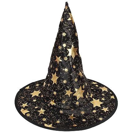 Sombrero de Mago de Halloween Disfraz de Bruja Estrella Puntiagudo Niños -  Negro 743a92d7f08