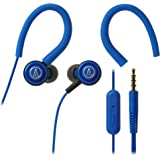 Audio-Technica SonicSport ATH-COR150iSBL in-Ear Headphones with Mic (Blue)