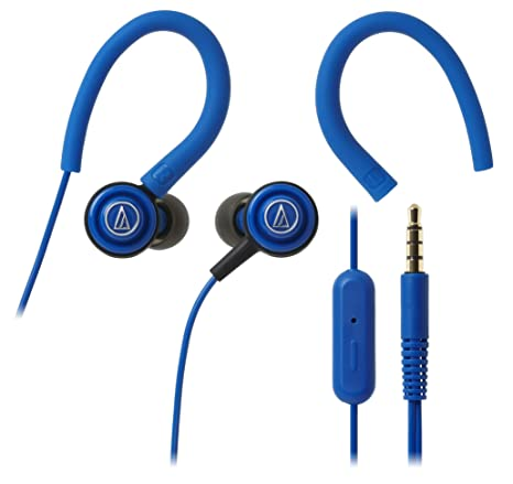 Audio-Technica SonicSport ATH-COR150iSBL in-Ear Headphones with Mic (Blue) On-Ear Headphones at amazon