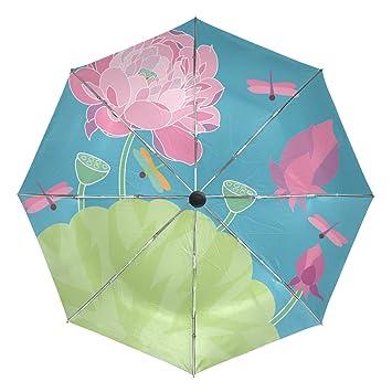 bennigiry resistente al viento paraguas de viaje libélula Auto Abrir Cerrar Plegable fuerte compacto paraguas, mujer, Multi#002, talla única: Amazon.es: ...