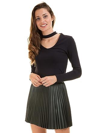 dc17a1cf6d Vero Moda Pleated Short Skirt VMJOSEFINE (M - Green): Amazon.co.uk ...
