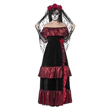 Señoras Día De Los Muertos novia esqueleto calavera Halloween ...
