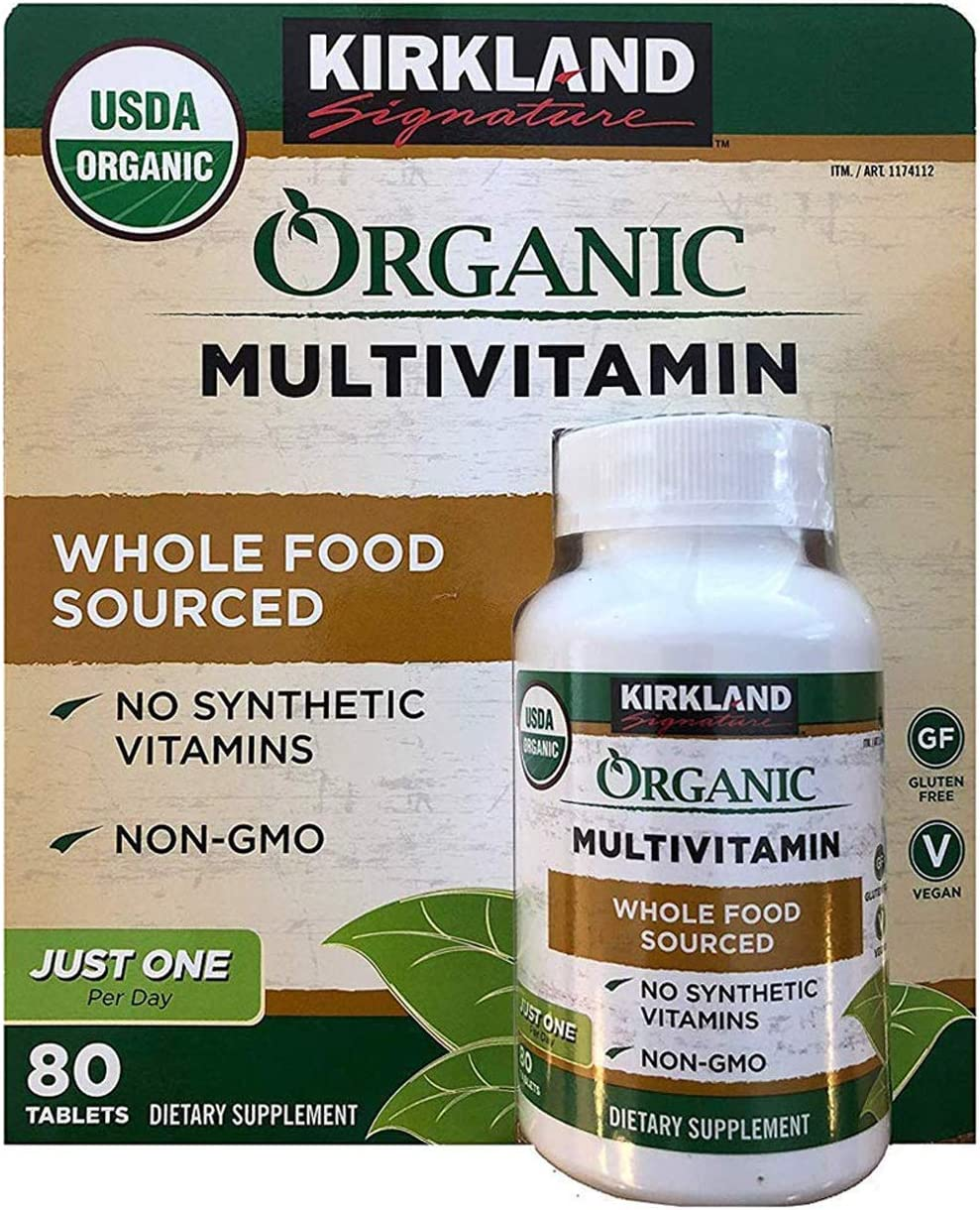 Kirkland Signature Organic Multivitamin - 80 Coated Tablets