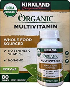 Kirkland Signature Organic Multivitamin - 80 Coated Tablets