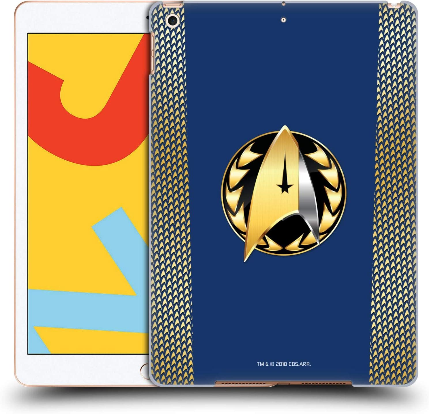 Head Case Designs Officially Licensed by Star Trek Discovery Admiral Badge Uniforms Hard Back Case Compatible with Apple iPad 10.2 (2019)