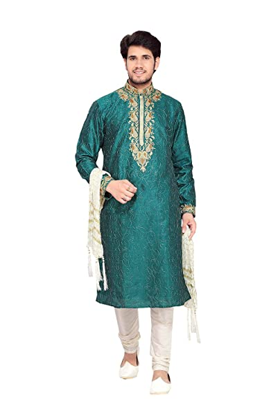Amazon.com: daindiashop-usa Kurta pijama para hombres Boda ...
