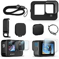 FitStill Siliconen hoes voor Hero 10/Hero 9 Zwart, Batterij Side Cover & Lens Caps & Screen Protectors & Lanyard voor Go…