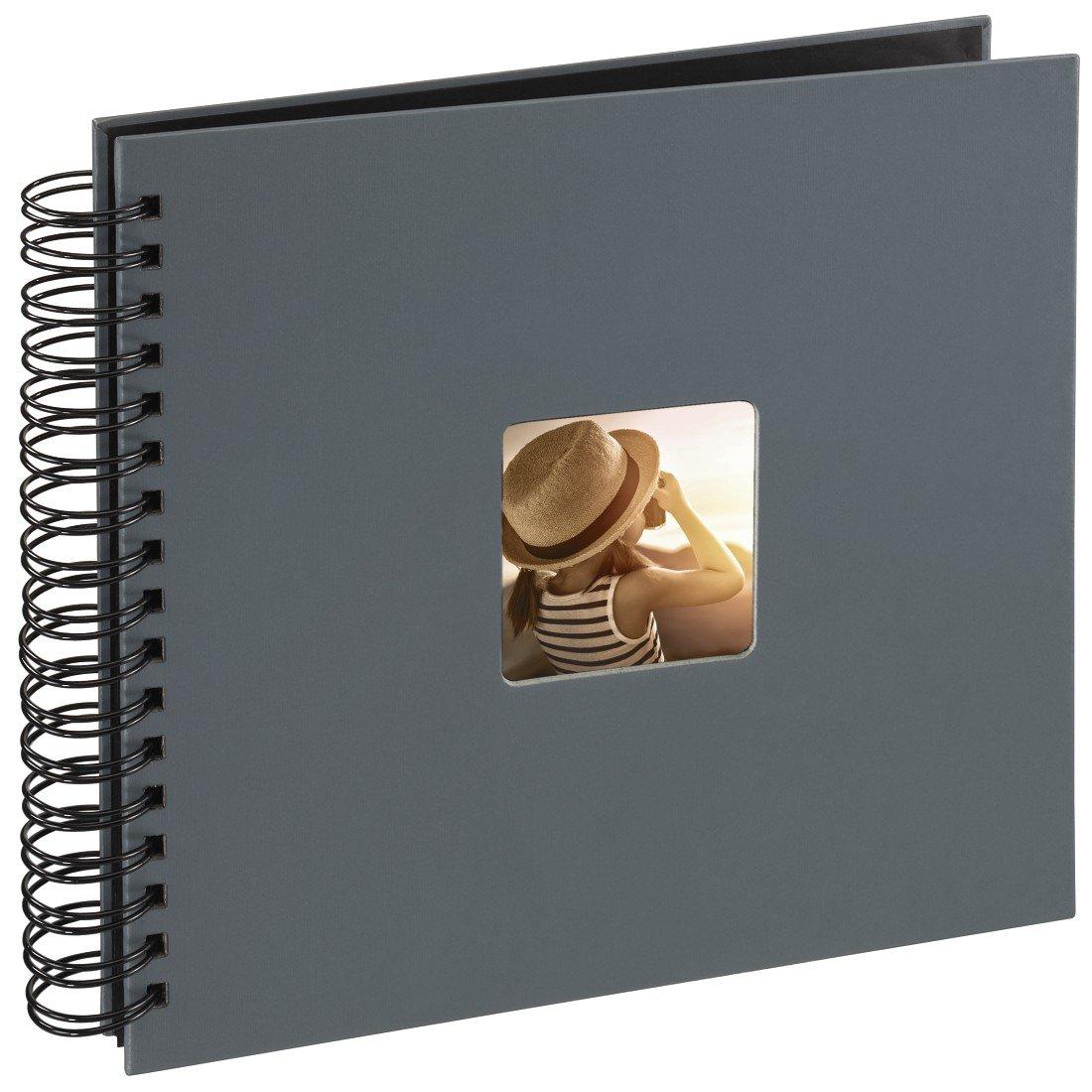 Album photo à spirales Fine Art, 22 x 17 cm, 50 pages noires, gris HAMD22 00094884