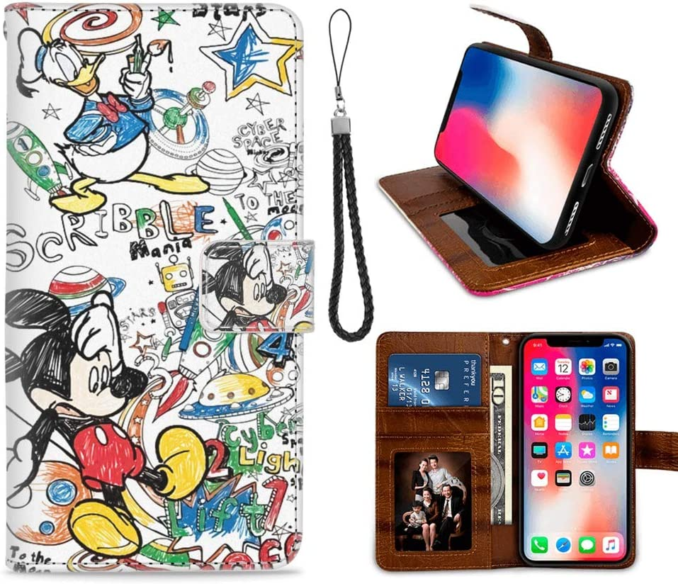 Amazon Com Disney Collection Wallet Case Compatible With Iphone X