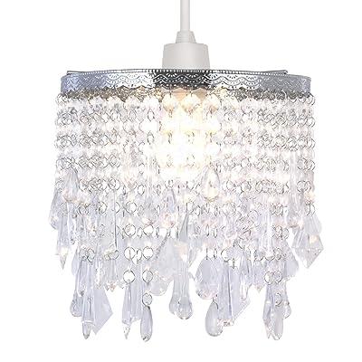 Abat-jour en Cristal de Lumière Pendante, Abat-jour Moderne de Conception de Lustre de Plafond de Conception Avec l'acrylique Gris Clair et Gris-Gris