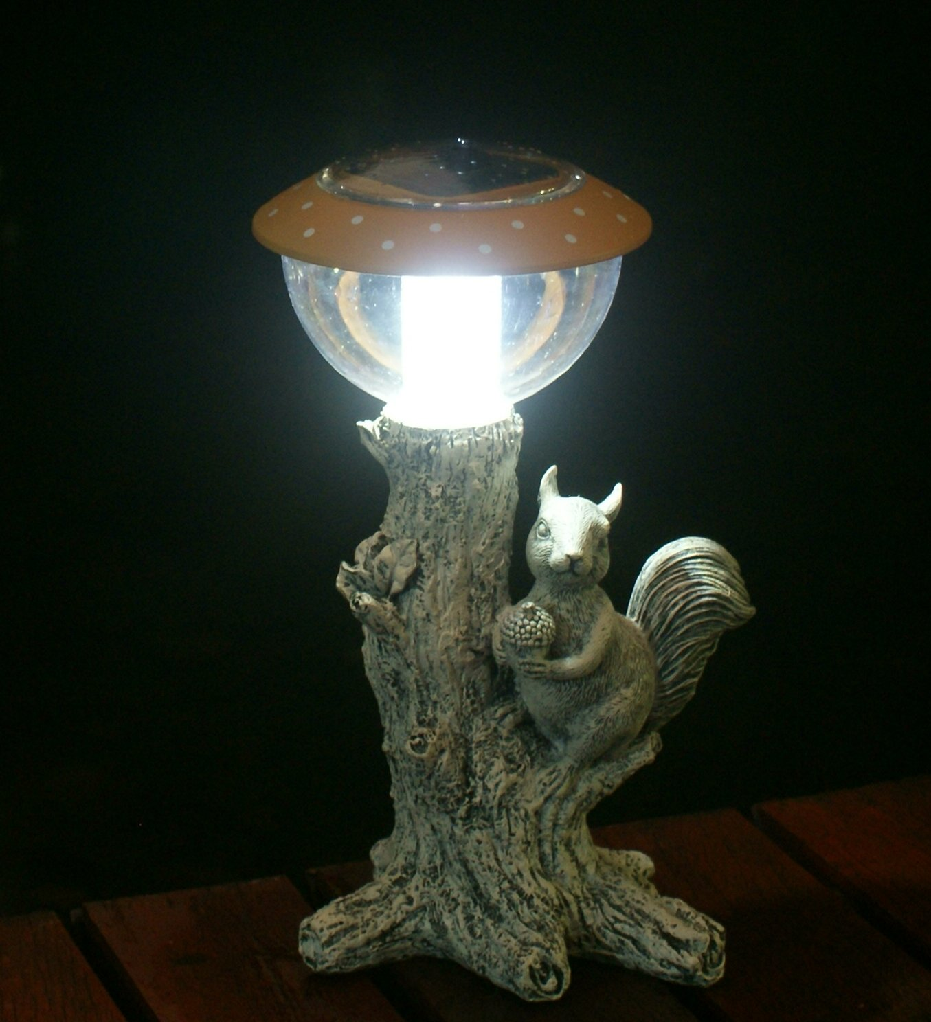 Solar Garden Lamp Solar Garden Lights With Squirrel Statue