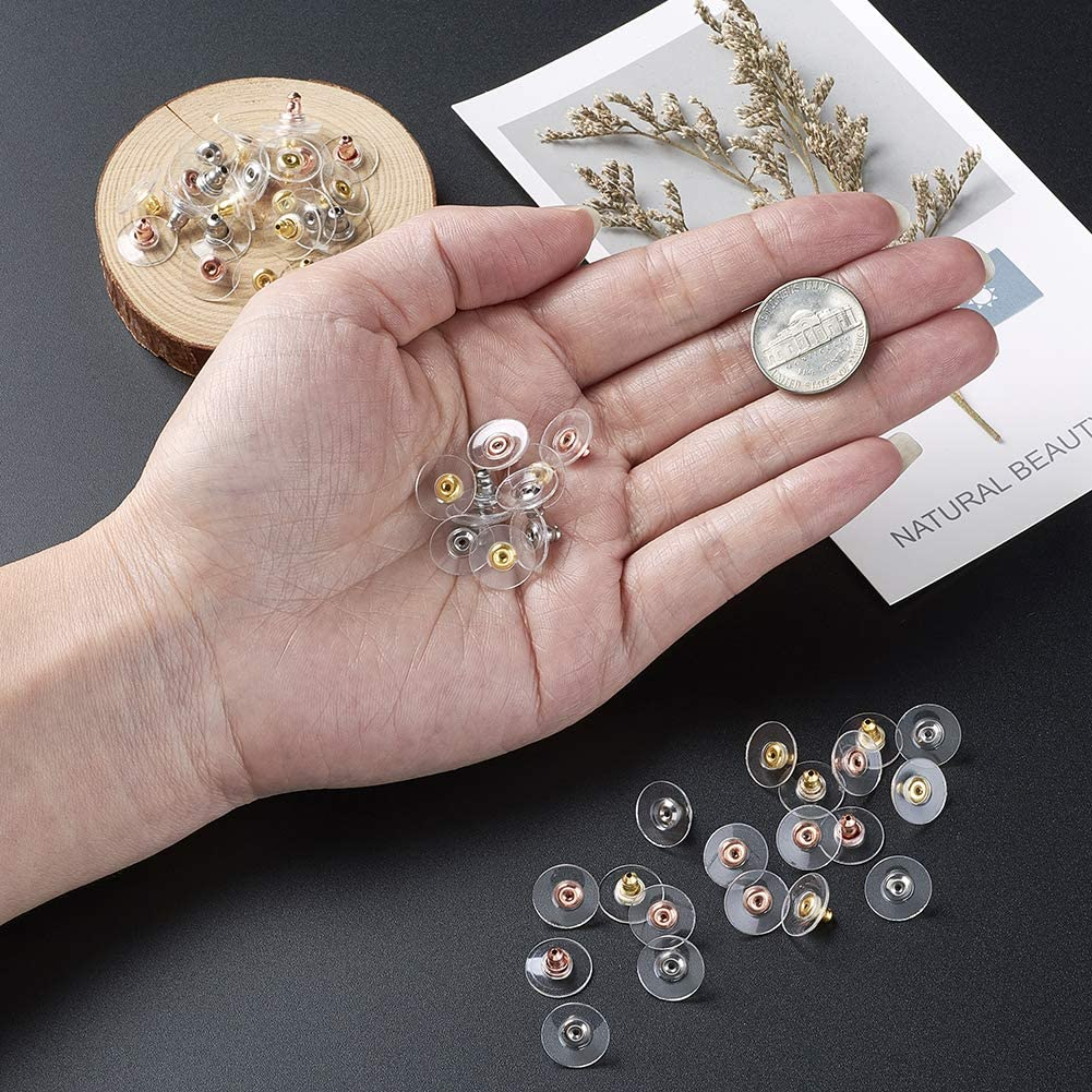 Stainless Steel/& Rose Gold /& Golden Color Craftdady 60pcs//Set Mixed Colors 304 Stainless Steel Ear Nuts Earring Safety Backs Stopper DIY Earrings Jewelry Making Findings