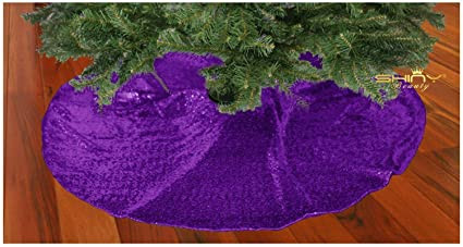 shinybeauty royal purple christmas tree skirt 48 inch glitz purple sequin christmas tree skirt tree skirt