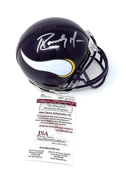 Randy Moss Minnesota Vikings Signed Autograph Throwback Mini Helmet JSA  Witnessed Certified 239da7aee