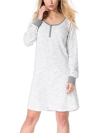 4946aaf574 Rossli SAL-ND 2018 Women s Nightdress Cotton Long Sleeves Round Neck ...