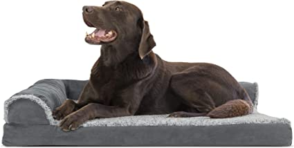 Available in Multiple Colors /& Styles Furhaven Pet Dog Bed Orthopedic L Shaped Chaise Lounge Sofa-Style Living Room Corner Couch Pet Bed w// Removable Cover for Dogs /& Cats