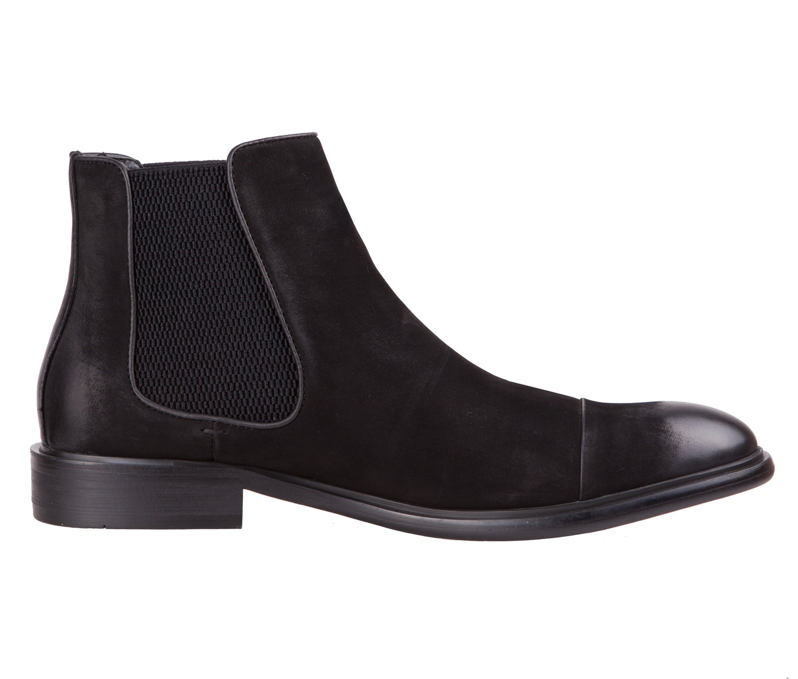 BALDI Men's garwood Black Leather Formal/Casual Chelsea Slipon Boots (EU 43/US 10)