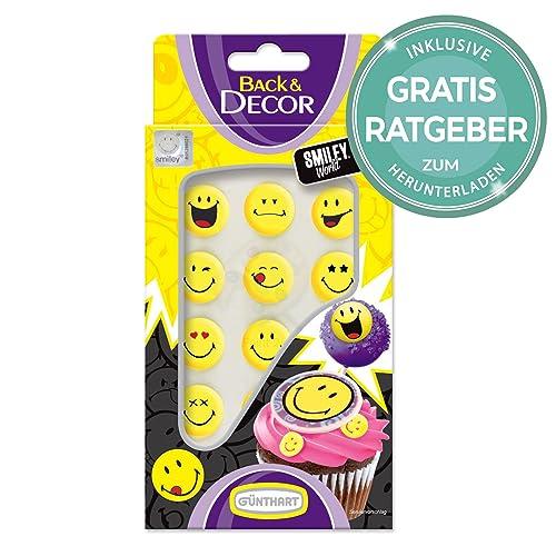 Tortendekoration Smiley | Emoji Torten Deko Zur Verzierung Torten Dekor Für  Kindergeburtstag Inkl Gratis Ratgeber |