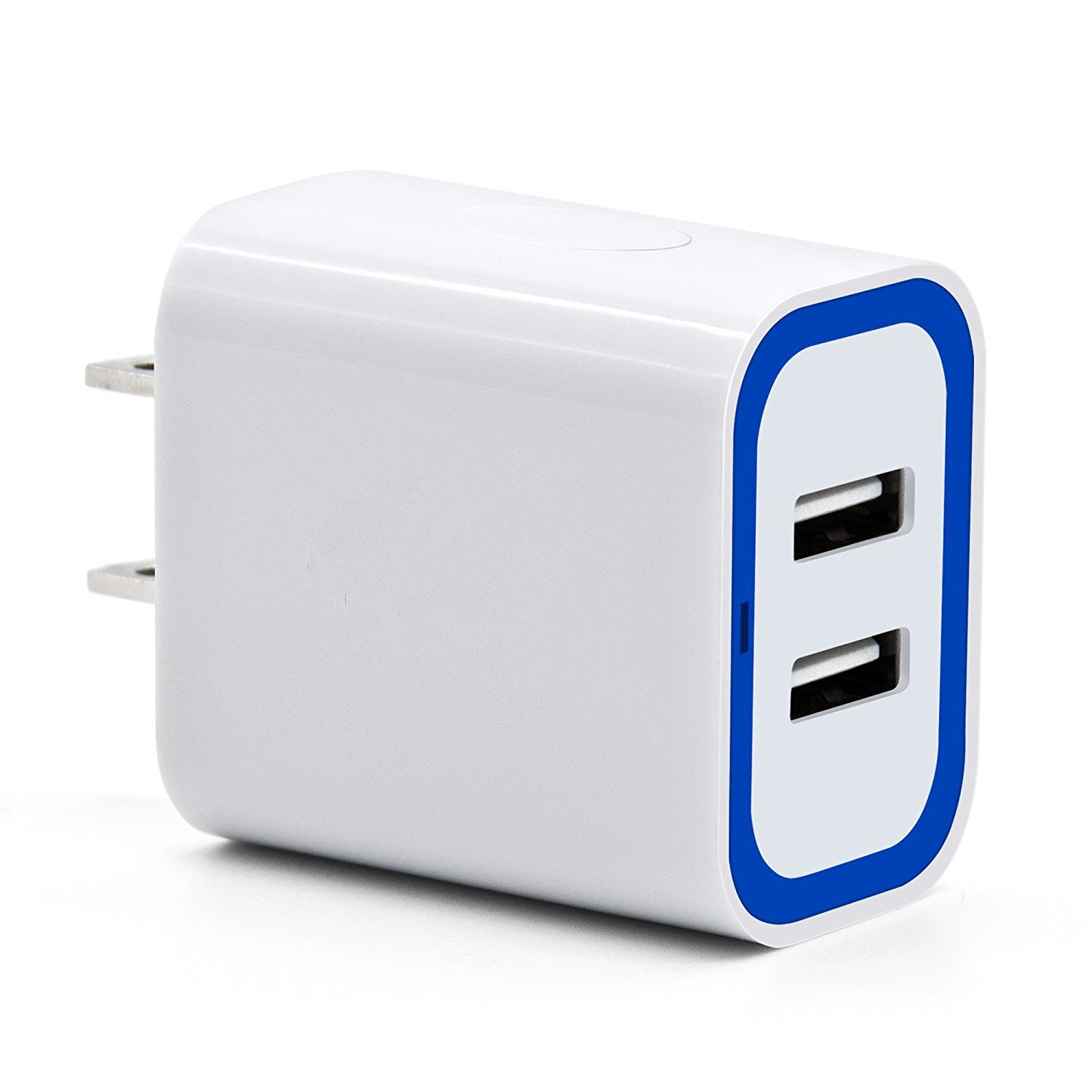 the best attitude eafb5 ff9b0 2.4A/12W Dual USB Wall Charger Adapter Plug Compatible with iPhone  X/8/7/6S/6S Plus, iPad Pro/Air 2/mini2, Samsung Galaxy/Note, LG, Nexus,  HTC, and ...