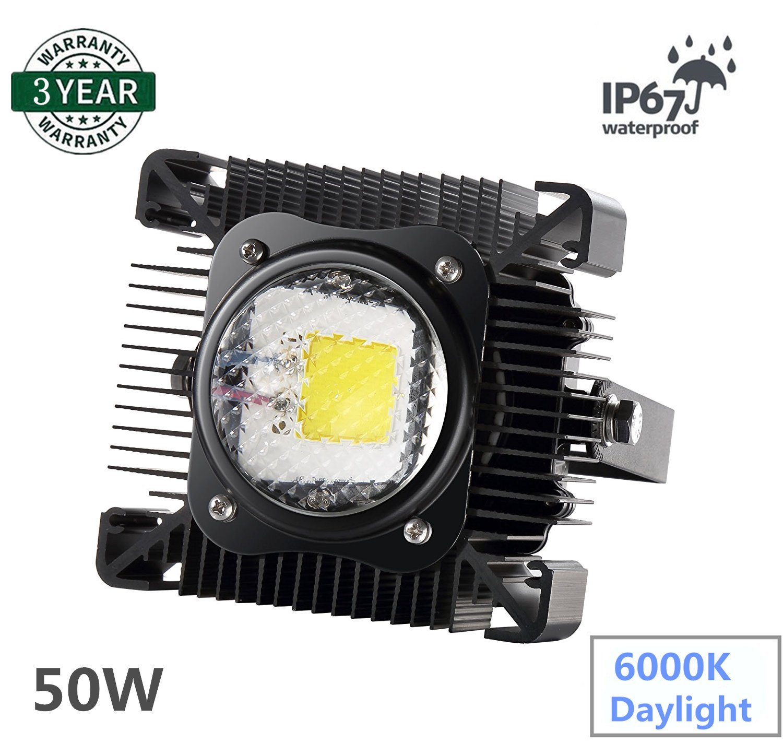 Jiangzhi 50W LED Flood Light, Super Bright Outdoor Work Lights, 250W Halogen Bulb Equivalent, IP67 Waterproof, 4000Lm, 6500K, Outdoor Floodlight for Garage/Garden/Lawn/Yard/Factory/Stadium