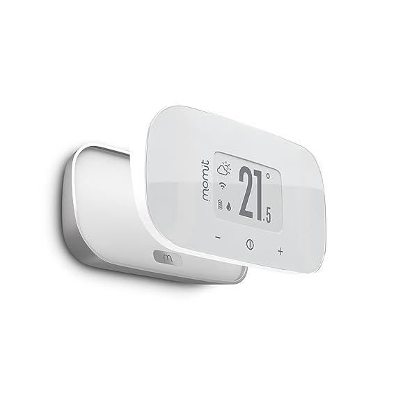 Momit Bevel V2 Termostato Inteligente Inalámbrico, Blanco y Plata: Amazon.es: Bricolaje y herramientas