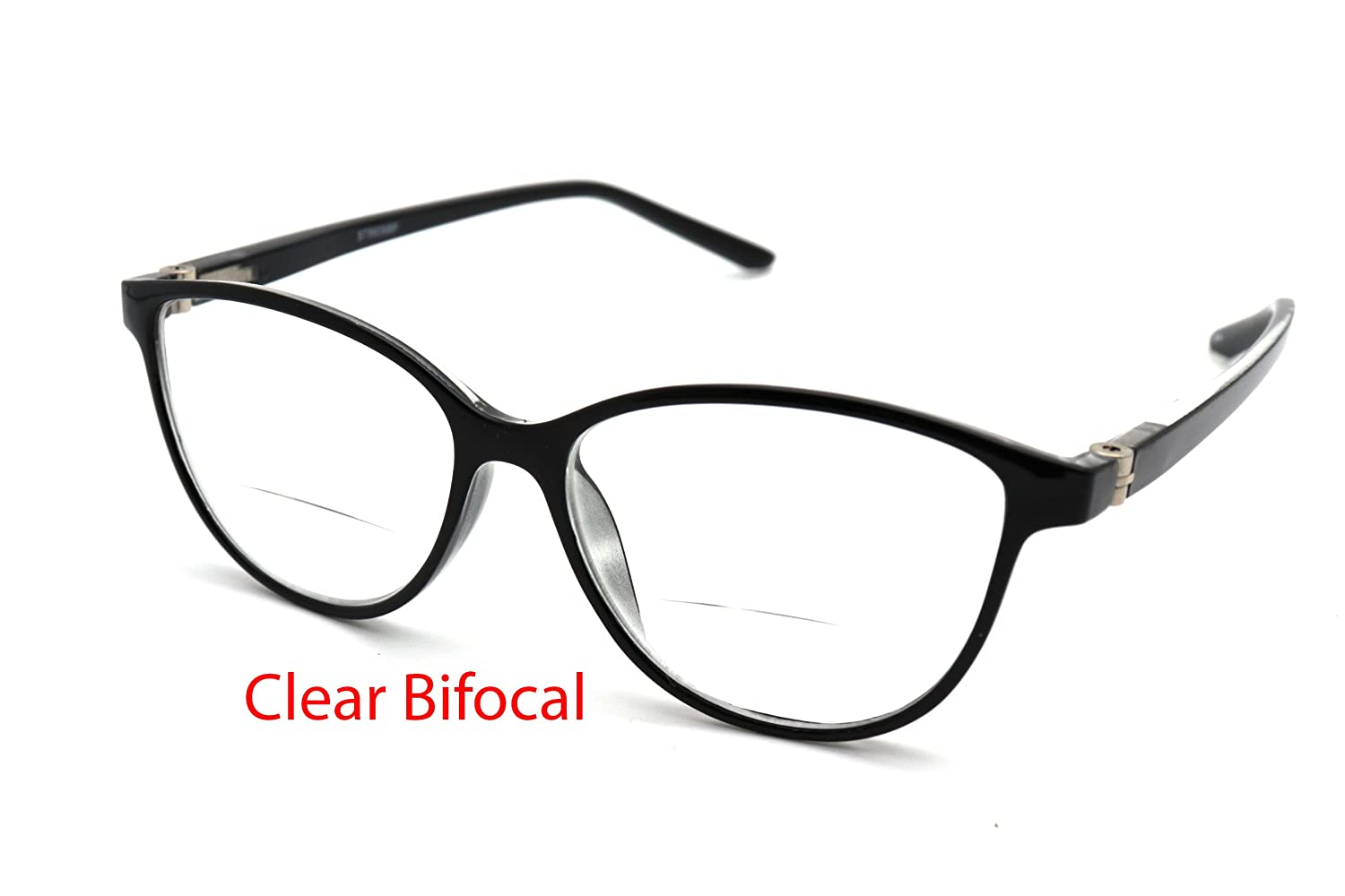 2e9effb9868e Amazon.com  ColorViper Vintage Classic cateye reading glasses for women  clear BiFocal CAT EYE (A1 shiny black clear Bifocus lens