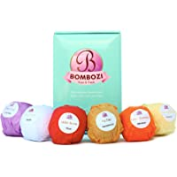 Bath Bombs Gift Set - Bombozi |Lush Essential Oils Bath Bomb Kit With Shea Butter - Skin Moisturizer |Birthday Gifts For Women, Men, Girls, Wife, Mom|Organic, Handmade, Cruelty Free| 6 x 2.5 oz