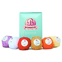 Bath Bombs Gift Set - Bombozi |Lush Essential Oils Bath Bomb Kit With Shea Butter - Skin Moisturizer |Birthday Gifts For Women, Men, Girls, Wife, Mom|Organic, Handmade, Cruelty Free| 6 x 2.5 oz