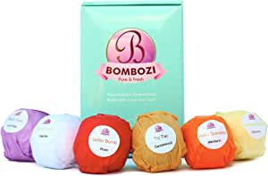 Bath Bombs Gift Set - Bombozi |Luxury Assorted Essential Oils Bath Bomb Kit With Shea Butter - Skin Moisturizer |Mothers Day,Women, Girls, Wife |Organic, Handmade, Cruelty Free| 6 x 2.5 oz