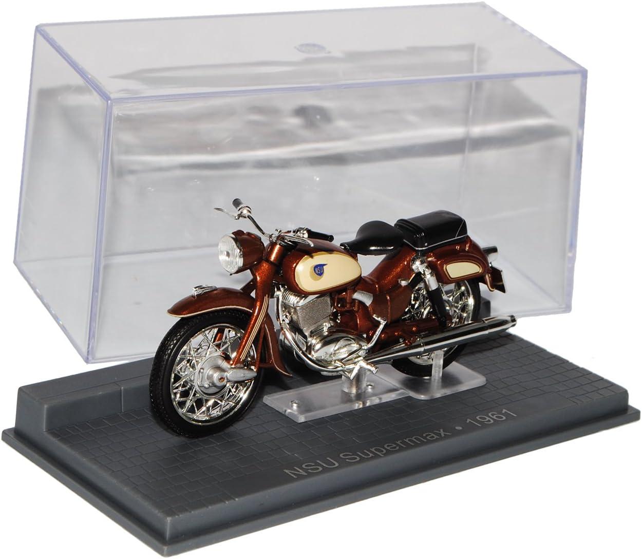 Ixo NSU Supermax 1961 Braun 1//24 Modellcarsonline Modell Motorrad mit individiuellem Wunschkennzeichen