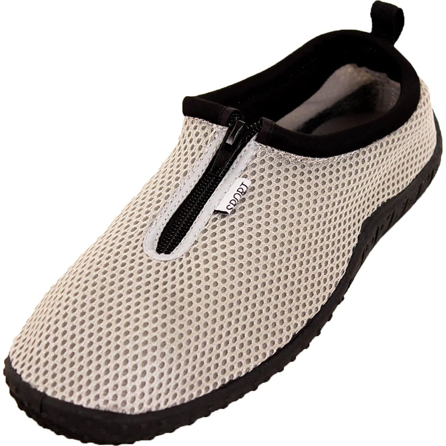 Women's Zip Up Aqua Socks Water Shoes