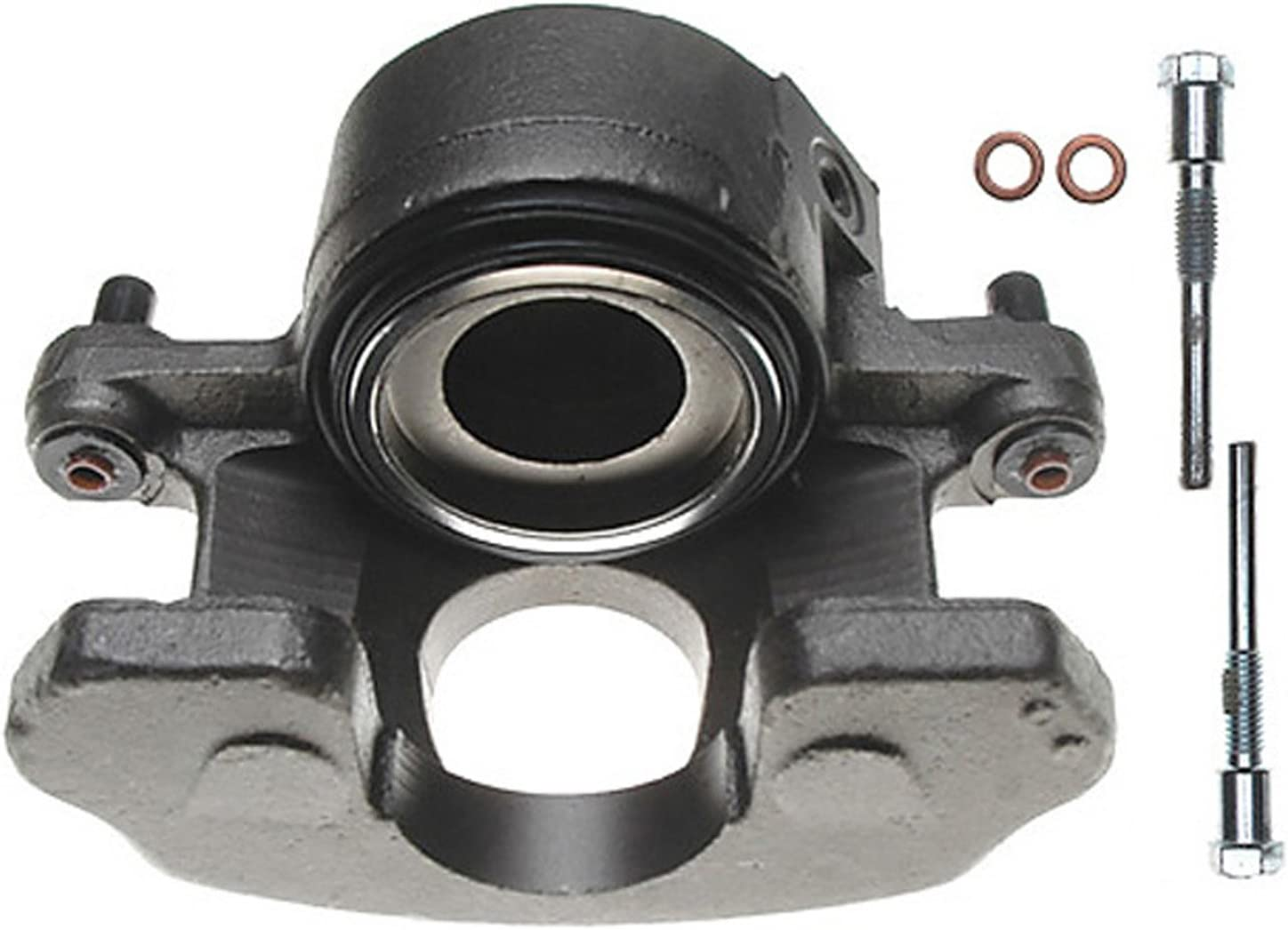Remanufactured Friction Ready Non-Coated ACDelco 18FR988 Professional Front Driver Side Disc Brake Caliper Assembly without Pads