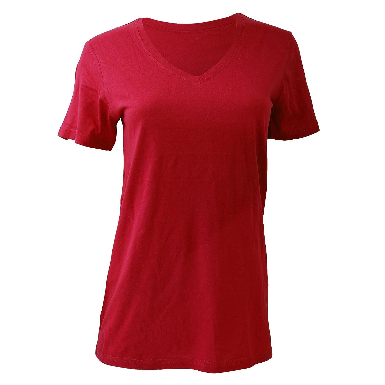 Anvil Womens Sheer V Neck Tee / T-Shirt