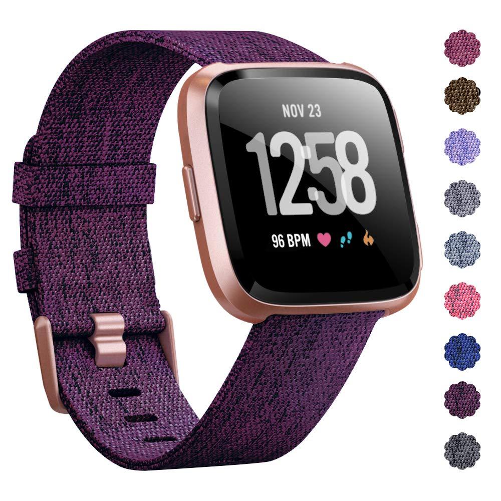 Malla Reloj Fitbit Versa/fitbit Versa 2 (violeta Rose Gold)