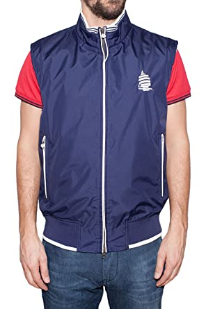 new style bb500 3d1ac Marina Yachting Men's Gilet - Blue - 44: Amazon.co.uk: Clothing