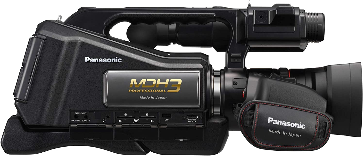 Panasonic HC-MDH3 AVCHD Shoulder Mount Camcorder with LCD Touchscreen /& LED Light PAL with Professional Accessory Bundle Tripod /& More Includes: SanDisk Extreme PRO 64GB SDXC Memory Card