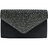 Evening Clutch Bags for Weddings Womens Bridal Rhinestone Purse Handbag