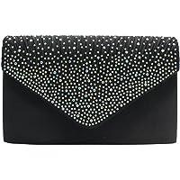 Evening Clutch Bags for Weddings Womens Bridal Rhinestone Purse Handbag