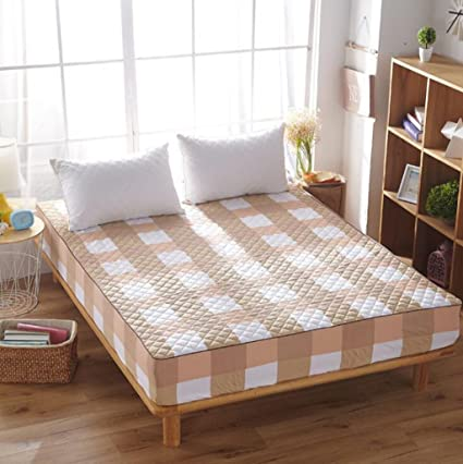 Wmshpeds Tela de algodón con colchas de algodón Ropa de Cama colchones colchones colchones colchón Protector