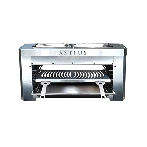 Asteus 4260293725400 Family V2-800 Grad Infrarot Elektro Grill Silber 70 x 25 x 34 cm
