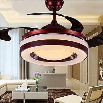 Charmant LED Unsichtbare Deckenventilator Kronleuchter, 36 Zoll Fernbedienung  Deckenventilatoren Mit Beleuchtung Einfache Moderne Für Schlafzimmer  Wohnzimmer