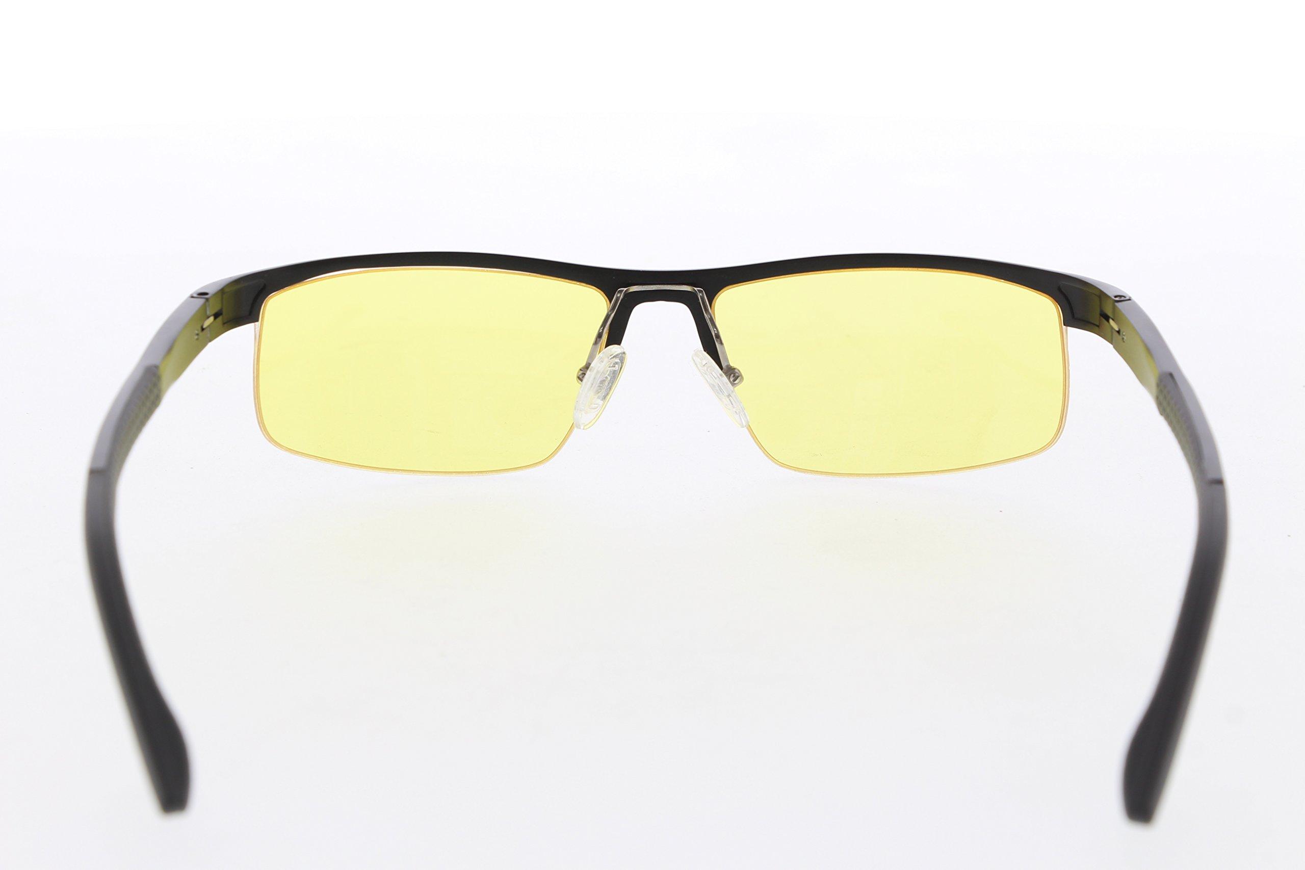 TNTi™ Billet Aluminum Frame eSport Pro Major League Gaming Glasses - Black Pearl by TNT interactive (Image #3)